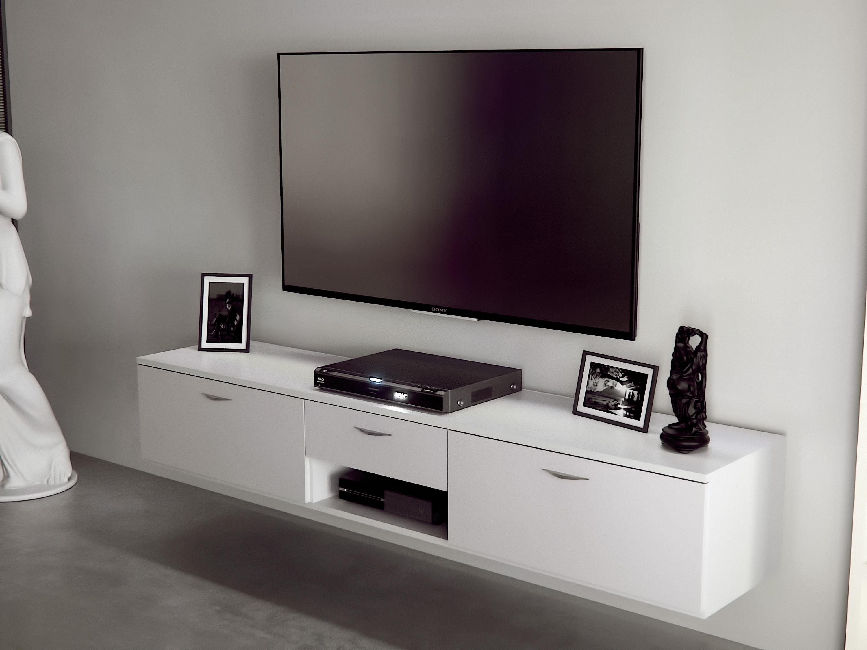Domelia – Meuble télé avec portes abattantes